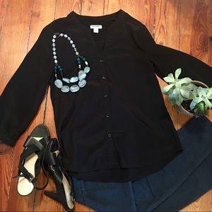 Sleek Black XS 3/4 Sleeve Top - Never worn.